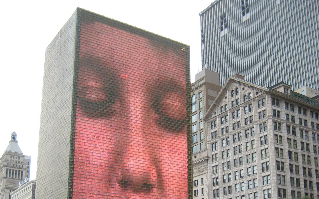 Jaume PLENSA, Crown Fountain (2004). Chicago (USA) –Hervé-Armand Béchy